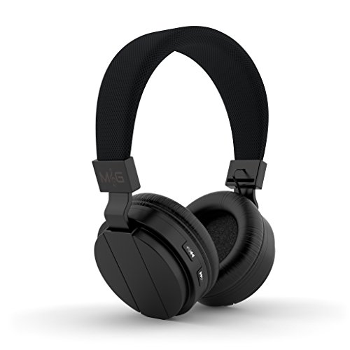 Rock-N-Grv Wireless Stereo Headphones. Best on Ear Headset for Gaming, Workout, IPad, TV, Computer and Gadgets. Easily Connects to Bluetooth Enabled Devices, TF Card Capable with Built in FM Radio