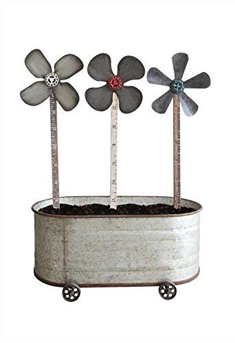 Metal & Wood Flower Yard Sticks - Set of 3 by Heart of America