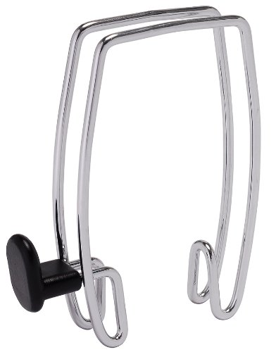 Hook Partition Coat - Alba Over-the-Panel Coat Hook, One-Sided, Chrome and Black (PMHOOK1)
