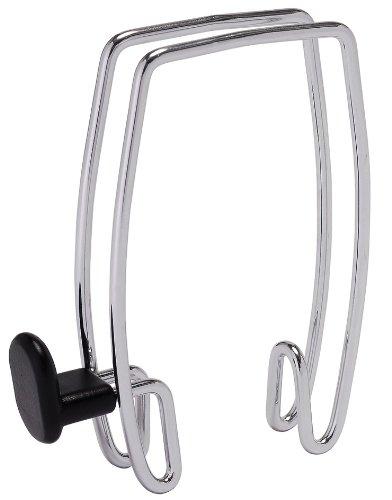 Alba Over-the-Panel Coat Hook, One-Sided, Chrome and Black (PMHOOK1) Alba Plastic Coat Hanger