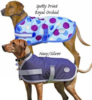 Landa Lite Dog Blanket Jacket in Navy and Silver Size: 22