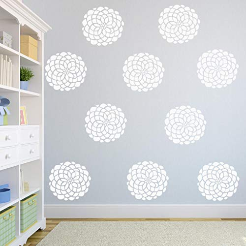 BYRON HOYLE Bloom Wall Flower Decals, Flower Wall Stickers, Floral Wall Decor Single Flowers Baby Nursery Decor