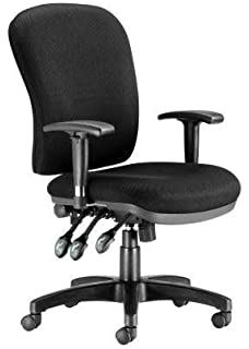 Chairs For Offices 130030BK Executive Heavy Duty Ergonomic Back Care Office  Chair With Arms Black Free