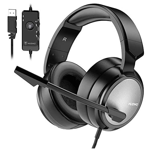 BENGOO N12 Gaming Headset for PS4, PC, 7 1 Surround Sound Over Ear  Headphones with Noise Cancelling Mic, On-Line Volume/MIC Control, Soft  Memory