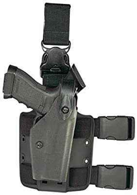 Safariland 6005 Black Taser X26 SLS Hood Quick Release Leg Harness Tactical Gun Holster