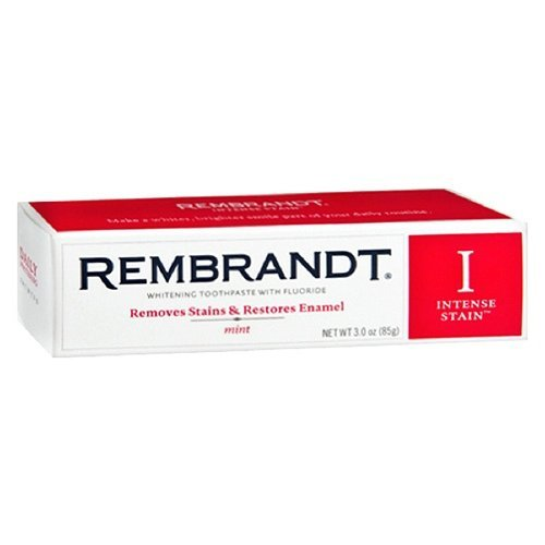 (Rembrandt Intense Stain Whitening Toothpaste with Fluoride, Mint 3.52 oz)