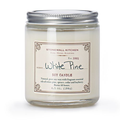 6.5 Ounce 5625094 Stonewall Kitchen White Pine Soy Candle