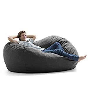 Amazon Com Big Joe Lux Xl Fuf Foam Filled Bean Bag Chair