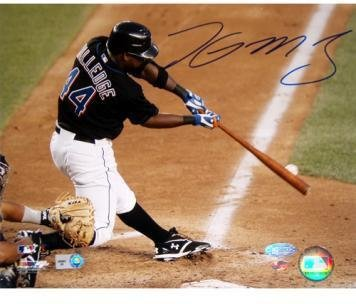 (Lastings Milledge Swing vs Pirates Signed 8x10 Photo (MLB Auth))