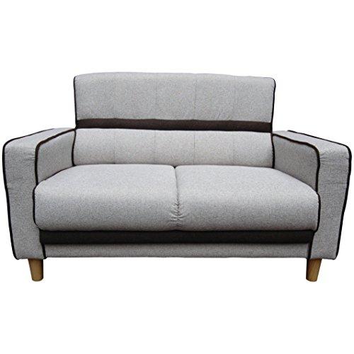 Beverly Furniture Larrie Loveseat Sofa, Light Gray