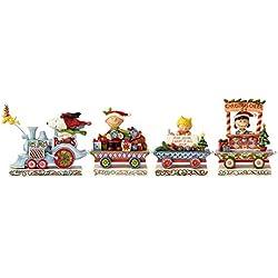 "Enesco Jim Shore Peanuts Deluxe Train Figurines, 4.5"", Multicolor"