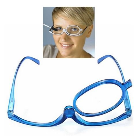 Blue Magnifying Glasses Makeup Reading Glass Folding Eyeglasses Cosmetic Degrees range: +3.0 by STCorps7