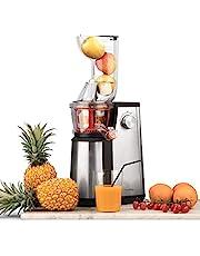 H.Koenig Vertical Juicer GSX22, Vitamine, Sapcentrifuge, BPA Vrij, 82 mm, Grote Mond, 3 Vuilzeefjes voor Dun of Dik Sap en Sorbet, Zachte Druk, 60 tpm, 400 W