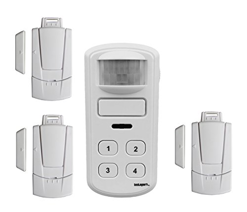 Instapark Home Security Alarm Bundle Kit with 1 Motion Detector Alarm and 3 Magnetic Window / Door Alarms (4 items)