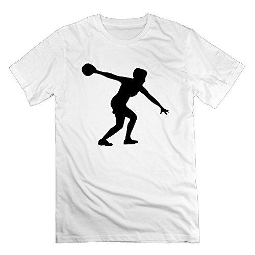 Bowling Ball Sport Logo Organic Cotton Standard Weight T-Shirt for Men (Organic Mens T-shirt Bowling)