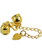 dailymall 10pcs Leather Cord Ends Cord End Cap Lobster Clasp and Extension Chains Kits - Gold, as described