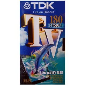 Tdk tv e180 3 hours vhs video tape e 180tved for Christmas movies on cable tv tonight