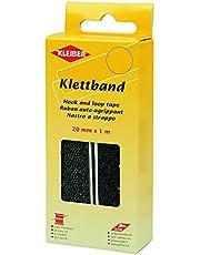 Kleiber Kletband haak en lus tape 20mm x 1m-Zwart, Polyester mix, 15 x 6 x 3 cm