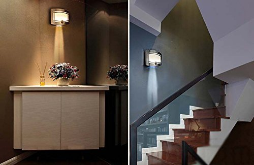 Fding LED Wall Light Light-operated Motion Sensor Nightlight Activated Battery Operated Wall Sconce by Fding (Image #4)