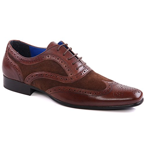 Unze Mens 'Carn' Leather Brogue Dress Shoes UK Size 7-11 – Carn 2