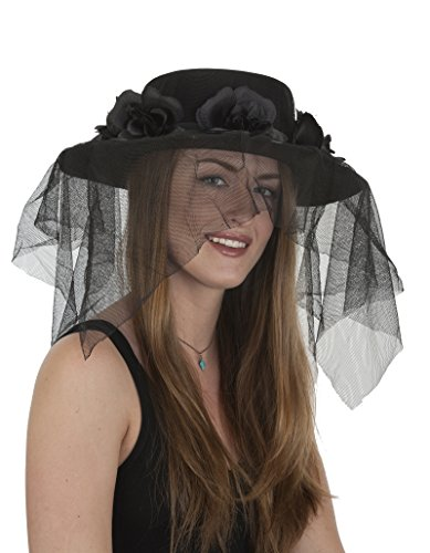 Day Of Dead Cape (J26011 Ladies Day Of The Dead Hat Flowers And Veil)