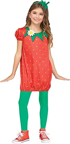 Strawberry Costume For Kids (Fun World Strawberry Fun Fruit Costume, Small 4 - 6,)