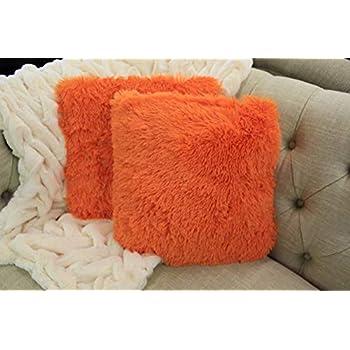 Amazon.com: Empire Home Fashi Kelly - Cojín cuadrado de pelo ...