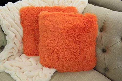 Empire Home Fashi Kelly Soft Fur Cushion Square Decorative Solid Shaggy Furry Throw Plush Pillow - Pillow 16 Plush