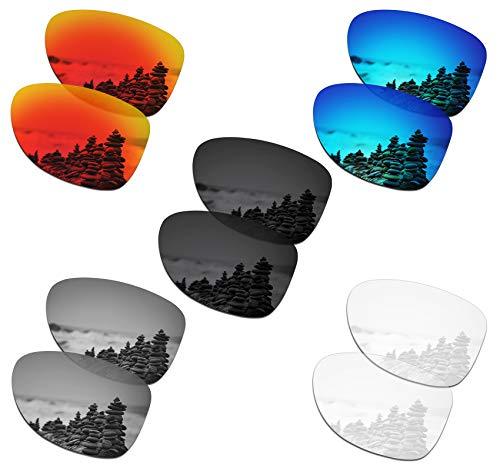 SmartVLT Set of 5 Men's Replacement Lenses for Oakley Dispatch 2 Sunglass Combo Pack S01