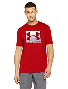Under Armour Men's Boxed Sportstyle T-Shirt, Red /Steel, X-Large