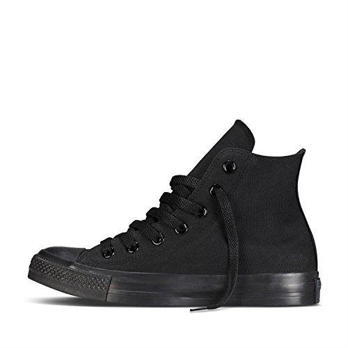 Converse Hi Black Monochrome Unisex Canvas Ankle Trainers M3310-4