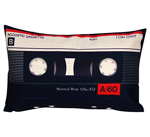 Cassette Decorations - DECOPOW Cassette Tape Throw Pillow,Gift To