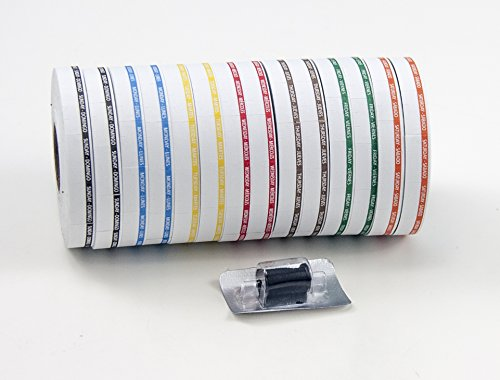 Amram 7 Day Date Coding Label Kit, 14,880 10x19mm Day of Week Labels. 2 Rolls Per Day, 1,063 Labels Per Roll.