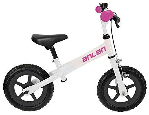 Anlen Steel Frame Balance/Running Bike Kid's Bike, 12 inch Wheels, Girls Bike, (Best Anlen Balance Bike)