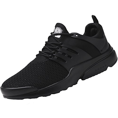 MMSunlight Women's Running Shoes Lightweight Non Slip Breathable Mesh Sneakers Sports Athletic Walking Shoes Black