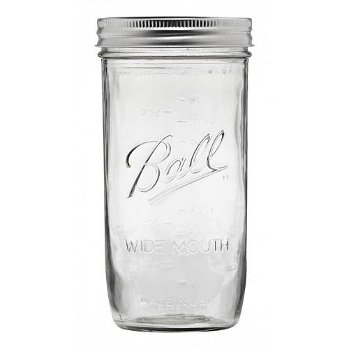 (JARDEN HOME BRANDS 1440065500 Ball Wide Mouth Mason Jars, 24 oz(Pack of 9))