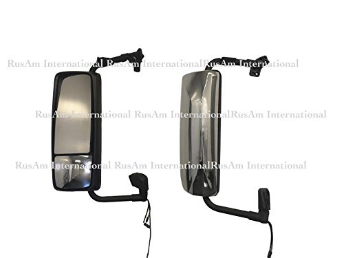Volvo VNL door main mirrors with chrome covers set left and right with turn signal. 2 pieces set passenger and driver side. ()