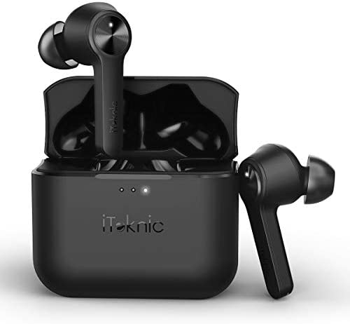 Wireless Earbuds, Bluetooth Earbuds, iTeknic Bluetooth 5.0 TWS in-Ear Earphones with Charging Case, Built-in Mic, Easy-Pair, 3D Stereo, 30Hours Playtime
