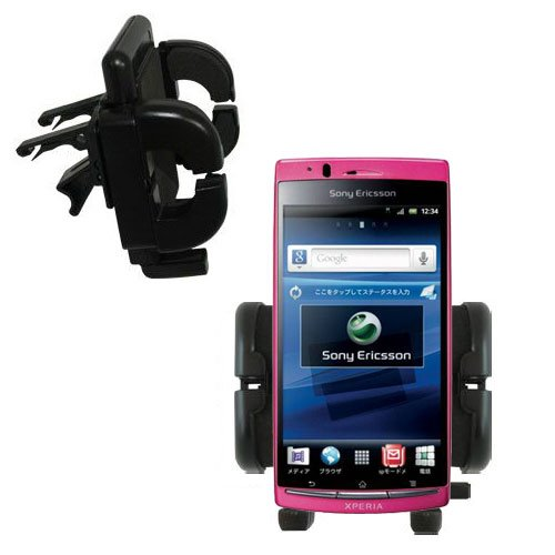 (Gomadic Air Vent Clip Based Cradle Holder Car / Auto Mount suitable for the Sony Ericsson Xperia Arc)