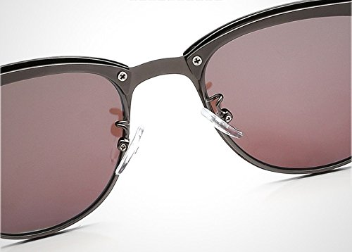 Black Gray Metal MY para de Sol Gafas Sol de Black Classic Unisex conducción Moda Marco de Color UV400 Medio gray de Polarized de Hombres Gafas Marca gSYgq
