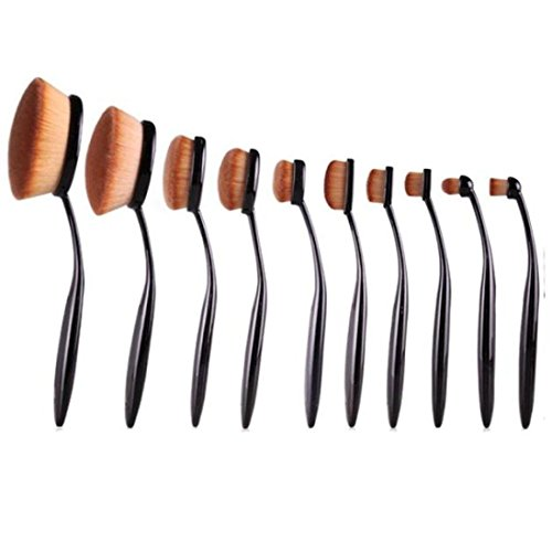 IBTS 10PC/Set Beauty Toothbrush Style Eyebrow Brush Foundation Eyeliner Makeup Brushes (Sigma Brushes Natural Hair compare prices)
