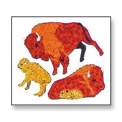 Bulk Roll Prismatic Stickers, Buffalo (100 Repeats): Arts, Crafts & Sewing