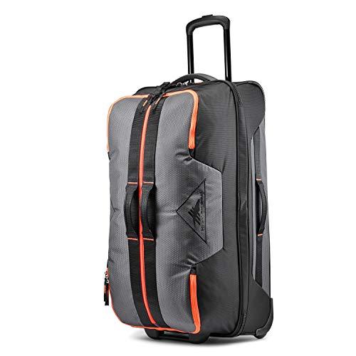 High Sierra Dells Canyon Wheeled Duffel Bag, Mercury/Black/Electric Orange, 160L