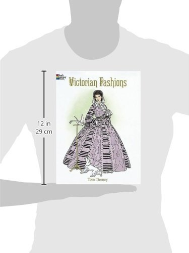 Victorian Fashions Coloring Book Dover Fashion Tom Tierney 0800759299171 Amazon Books