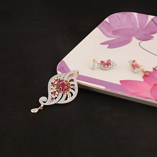 swasti joyas cz Zircon conjunto de joyas de moda en forma de pavo real colgante pendientes para las mujeres