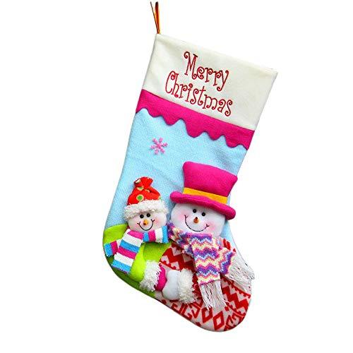 2017 Christmas Gift Bag Santa Claus Snowman Elk Ornament Sock Decors Year Decorations - Decorations Home