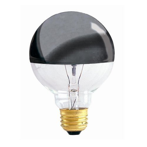 Bulbrite 100G25HM Half Chrome 100W Globe Shape Bulb (6 Pack) (Globe Bulb Chrome)