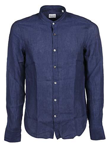 Bagutta Men's Elcn0045006994055 Blue Linen Shirt