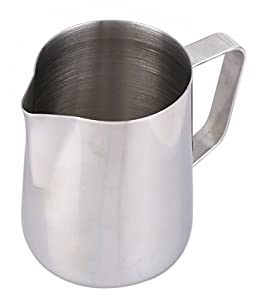 Milk Frothing Pitcher - Stainless Steel Frothing Pitcher - for Coffee Cream, Latte Art, Cappuccinos, Espresso - Professional Barista & Home Use - 12-Ounce, 350ml from Juvale