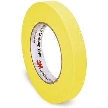3M Automotive Refinish Masking Tape, 06652, 18 mm x 55 m